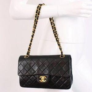192fb6c5fdd4 CHANEL Bags   Rare Vintage 9 Inch Double Flap Bag Black   Poshmark